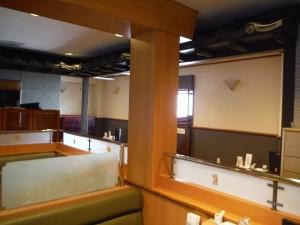 川崎市 多摩区 店舗 内装 塗装 すだれ 暖簾 施工前