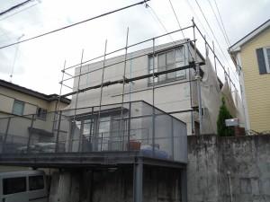 横浜市 青葉区 外壁塗装 シール打ち替え 施工中