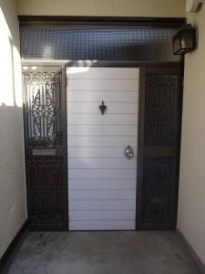 八王子市 玄関ドア交換 カバー工法 Before