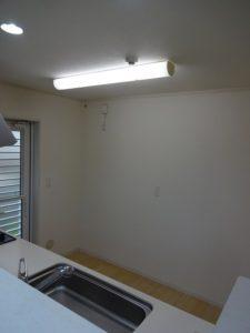 神奈川県川崎市多摩区 LIXIL リシェルsi カップボード 設置工事 Before