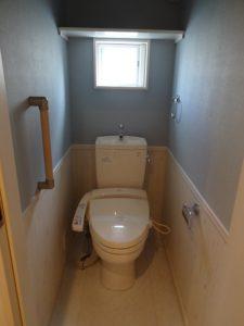 神奈川県川崎市多摩区 戸建 壁紙張替 クロス トイレ After