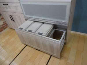 神奈川県川崎市多摩区 LIXIL リシェルsi カップボード 設置工事 ダストボックス