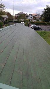 東京都 稲城市 屋根 塗装工事 高圧洗浄後