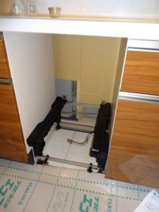 東京都調布市 新築マンション 食洗機 新設 パナソニック NP-45MD7S フルオープン  Before