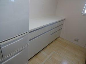 神奈川県 藤沢市 新築 戸建て カップボード設置工事 パナソニック ラクシーナ After