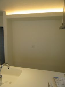 東京都 日野市 新築 戸建て カップボード設置工事 パナソニック ラクシーナ Before