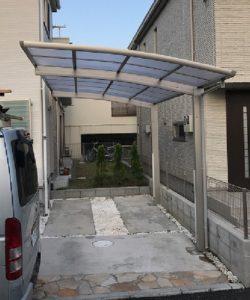 神奈川県 伊勢原市 カーポート レイナポートグラン 設置工事 YKK After